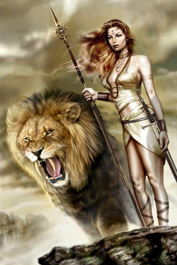 Девушка верхом на льве картинки