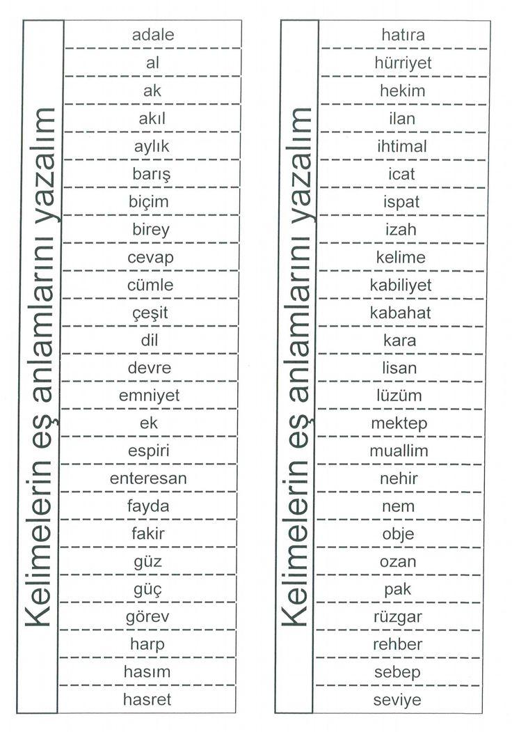 tarif: tdk eş anlamlı kelimeler [32] – LEVENT KIRAN