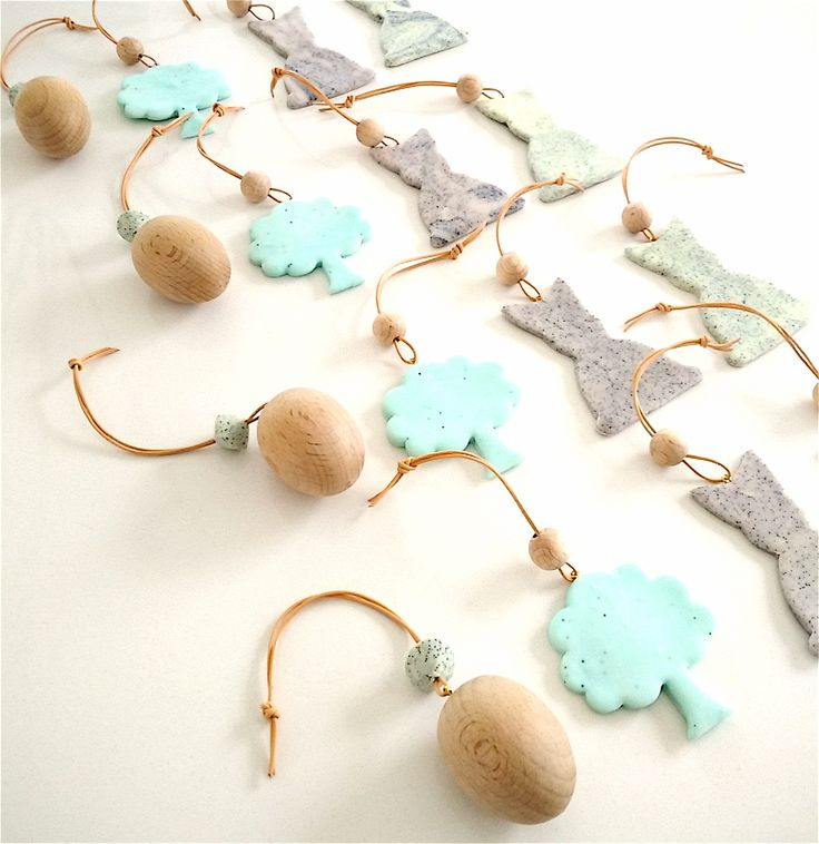 Handmade marble & wood easter decoration in my shop