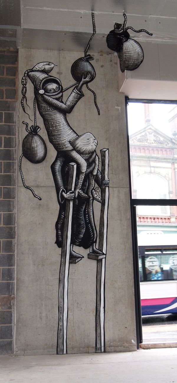 Street Art by Phlegm - Sheffield