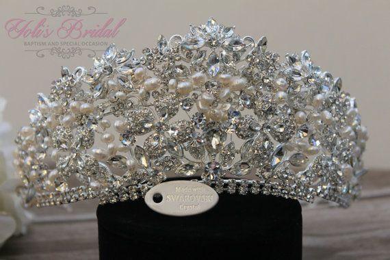Tiara de Swarovski QuinceaneraTiara Tiara de por YolisBridal
