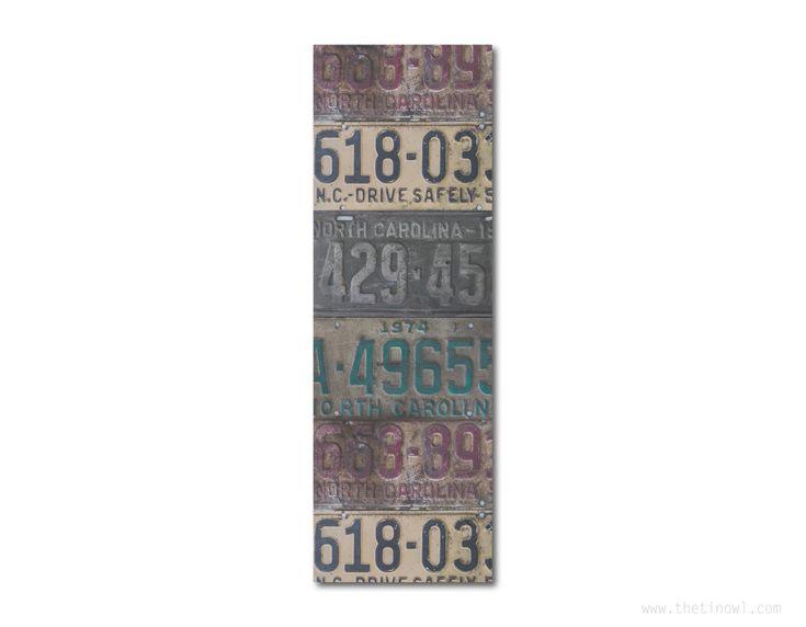 Bookmark - Vintage North Carolina License Plates