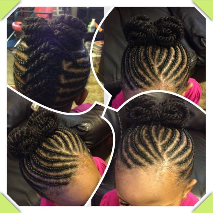 Stupendous 1000 Images About Natural Hairstyles For Kids Braids Twists Hairstyle Inspiration Daily Dogsangcom