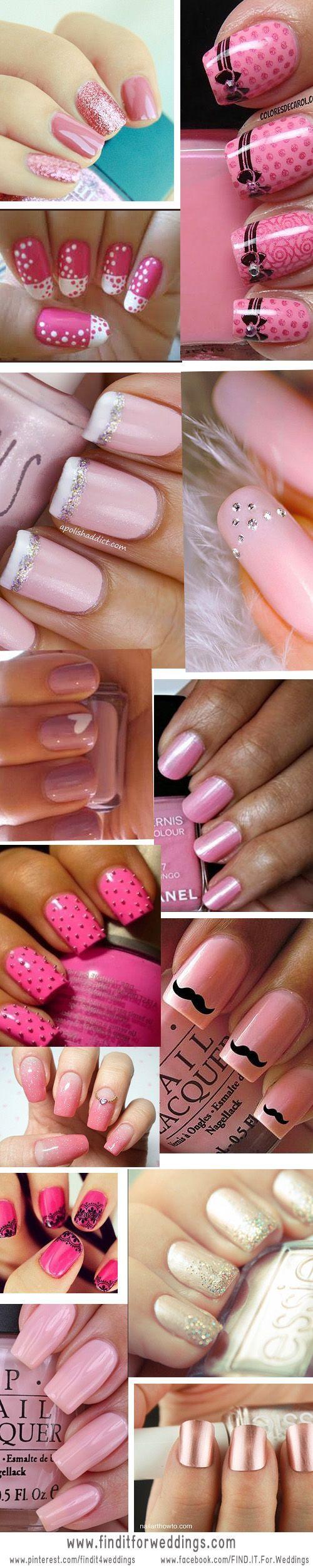 Fotos de uñas pintadas color rosa – 50 ejemplos | Pintar Uñas