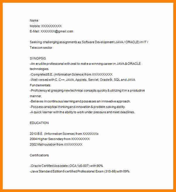 Junior Software Developer Resume Luxury 5 Junior Java Developer Resume