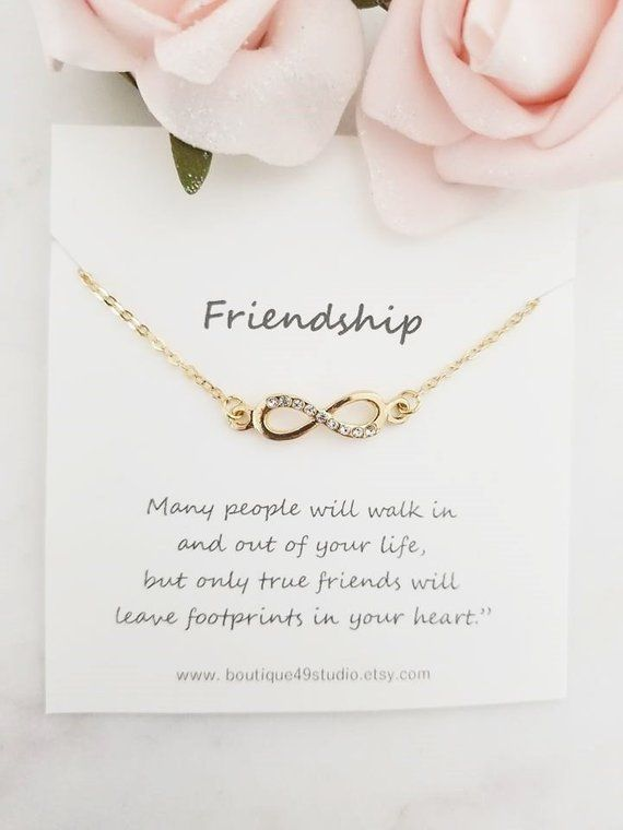 best friend necklace bff necklace best friend gift jewelry long