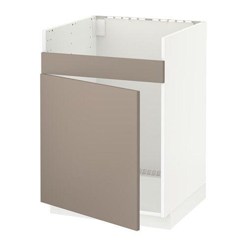 metod l ment pour vier domsj 1 bac noir ubbalt beige fonc kitchen project pinterest. Black Bedroom Furniture Sets. Home Design Ideas