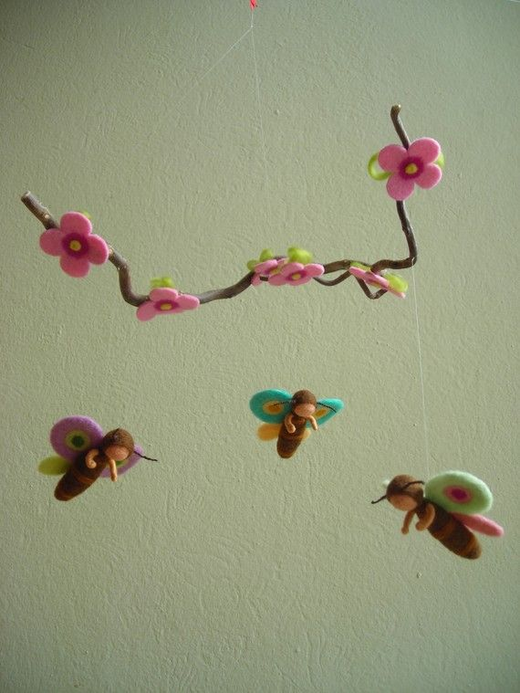 So lovely! Butterfly mobile.  Looks like the story of the butterfly children.  For the nature table.