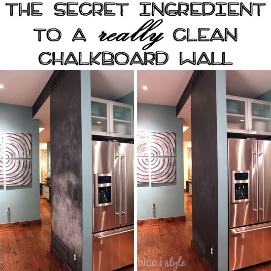 The Secret Ingredient to Get Your Chalkboard Wall Back to Black - Ever since we first painted the magnetic chalkboard wall in our kitchen, I have been on a miss…