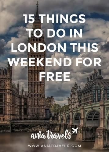 What is there not to love about London. It's a huge city with so many things to do. Here's my compilation of 15 FREE things to do in London this weekend.