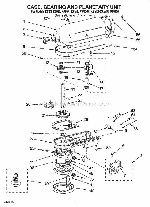 KitchenAid KPM5 Parts List and Diagram : eReplacementParts