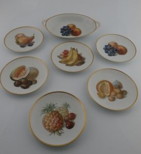 Zestaw porcelanowy do owoców dla 6 osób Marktredwitz Thomas 1908-1924