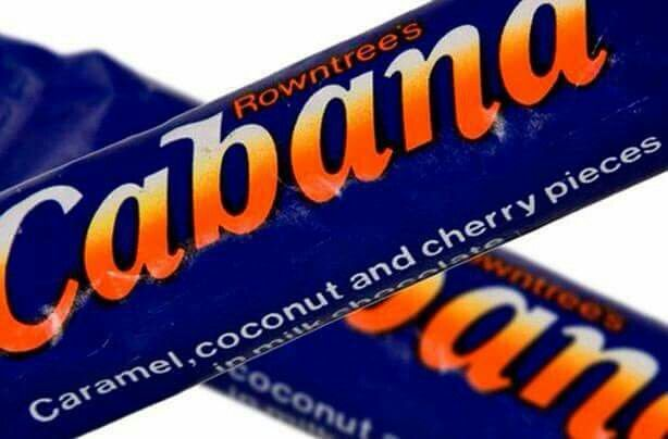 Cabana, my all-time favourite chocolate bar! Sadly missed.