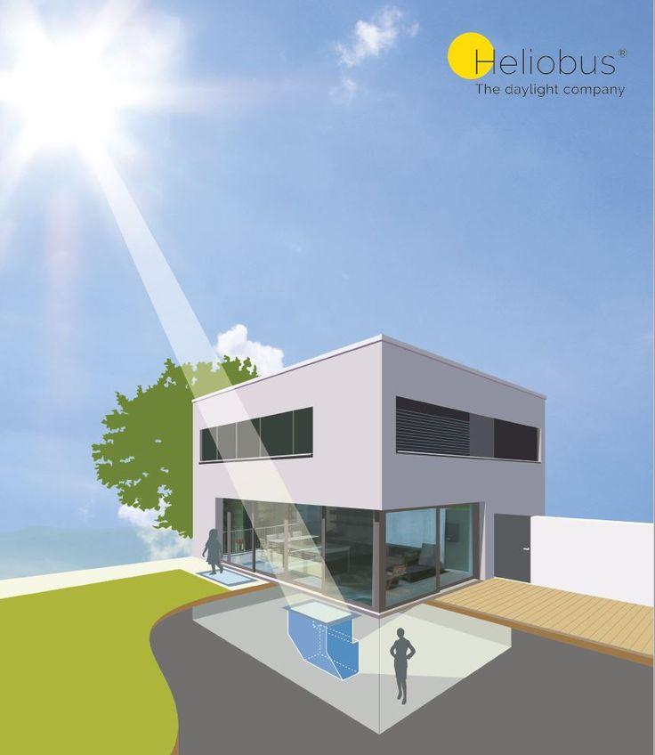 22 best heliobus daylight shaft images on pinterest for Sun tunnel basement