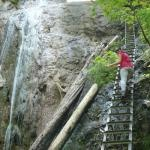 hiking dangerous Slovak Paradise mountains in Slovakia