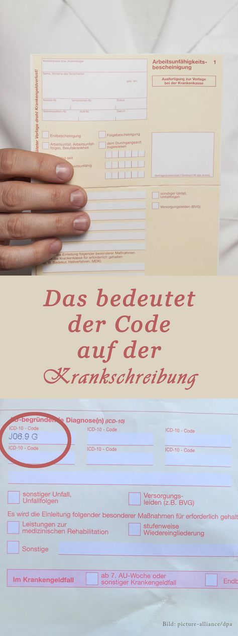 Diagnoseschlüssel: Das bedeutet der ICD-10 Code Bea