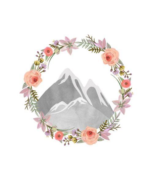 "wildsunshine: ""society6.com/product/mountain-wreath_print """