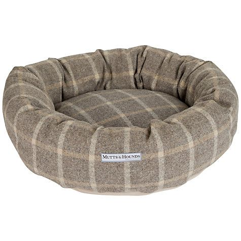 Mutts & Hounds Slate Tweed Donut Dog Bed