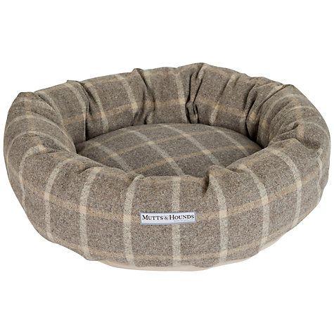 Buy Mutts & Hounds Slate Tweed Donut Dog Bed Online at johnlewis.com