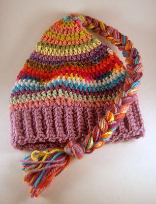 Scrap-Buster Crochet Hat Pattern