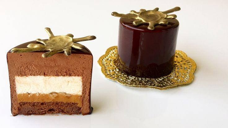 Шоколадный бисквит, вишневая пропитка с бобами тонка, ореховая карамель, мусс с бобами тонка, шоколадный мусс, шоколадная глазурь... #моясладкаяжизнь #jsopatisserie
