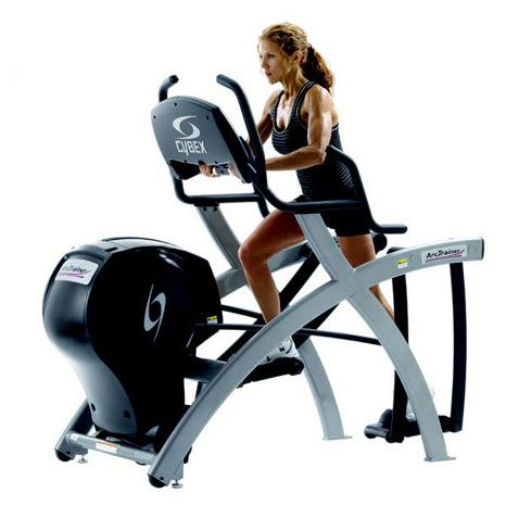 arc trainer.  my absolute favorite machine at the gym.  doesn't hurt my knees like the treadmill, but is a lot more difficult than the ellipitcal.