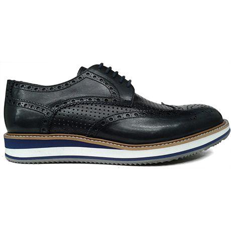 8284 zapato blucher pala vega con picado maría en azul de Pertini | Calzados Garrido