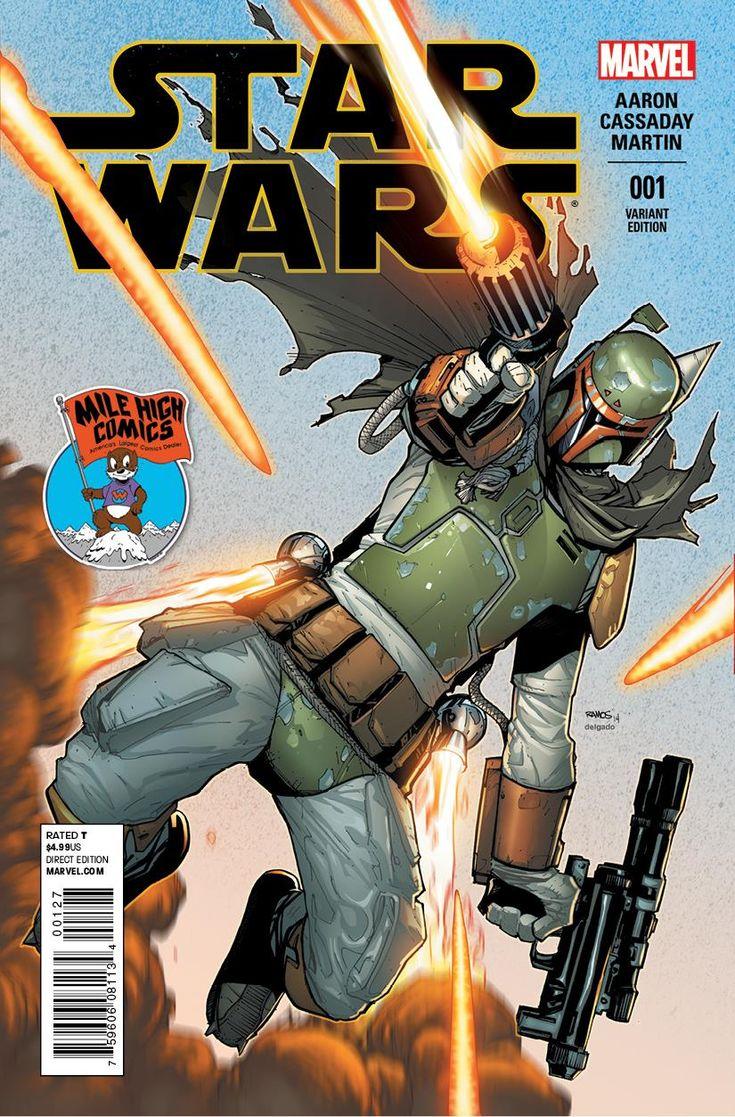 Star Wars #1 variant cover - Boba Fett by Humberto Ramos ...