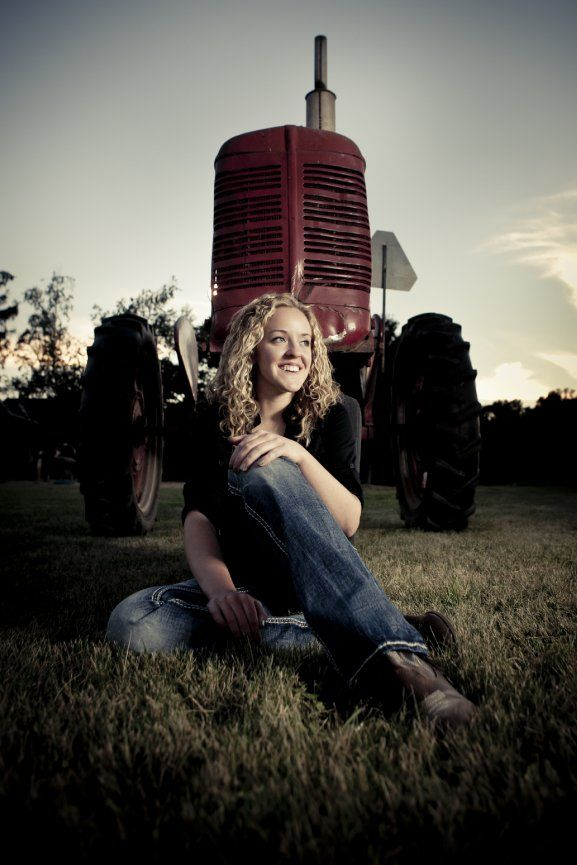 Rae of Light Photography | Senior Pictures | Cameron, WI | Country girl at heart, this senior picture even includes the tractor!