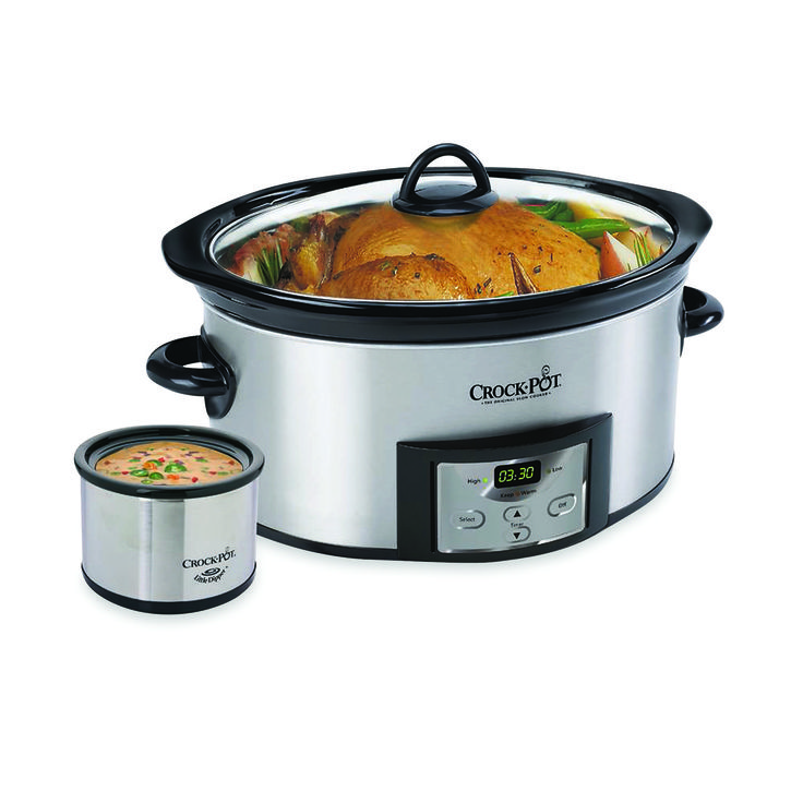 #Crock-Pot® Stainless Steel 6-Quart. Who's a slow cooking fanatic like we are?