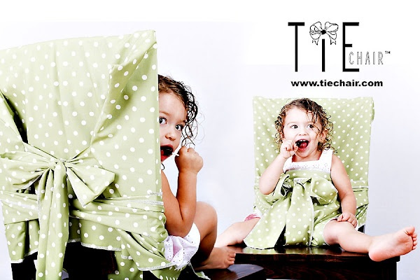 Tie Chair: What a fun idea! Just fabric you can throw in the diaper bag or car, and you have a portable high chair!