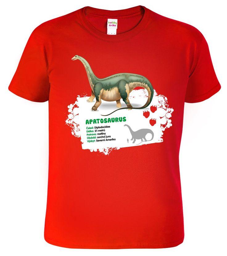 Apatosaurus - jeden z nejznámějších druhů dinosaurů, znám spíše pod názvem Brontosaurus. Toto originální edukativní tričko s dinosaurem a měřítkem kde je znázorněna velikost vůči lidské postavě, zakoupíte jen u nás.