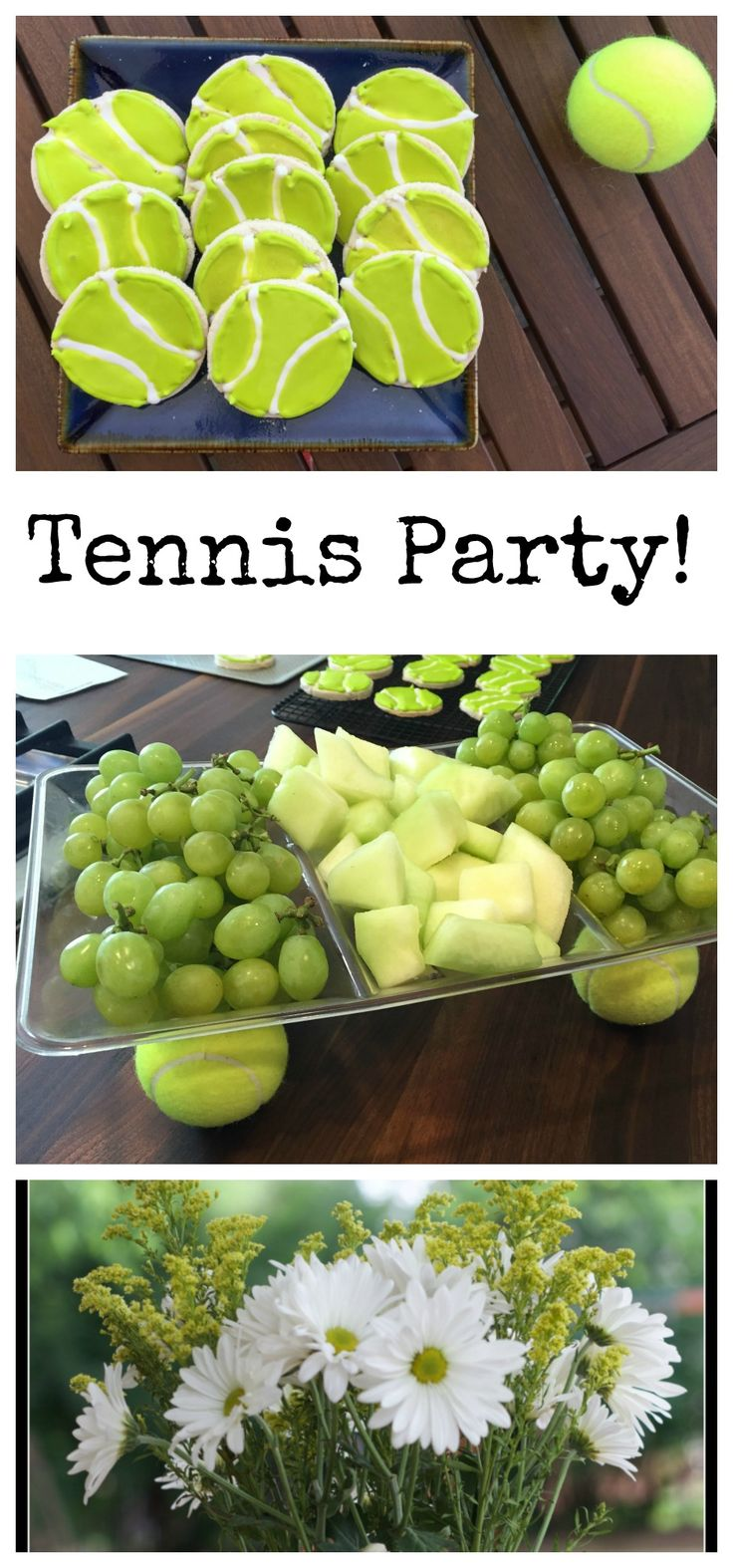 Tennis Party! Celebrate your tennis team or a Grand Slam tournament! Tips and tricks to make a fun, tennis-themed party for your friends. || Erin Brighton | gluten-free | cookies | party ideas | decorating | party tips