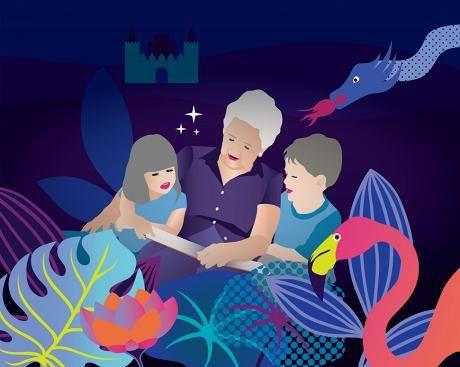 Isoäiti ja tutkija ovat samaa mieltä: Ääneen lukeminen parantaa perheen hyvinvointia, viihdyttää aikuista ja kehittää lasta. HS listasi 15 hyvää kesälomakirjaa.