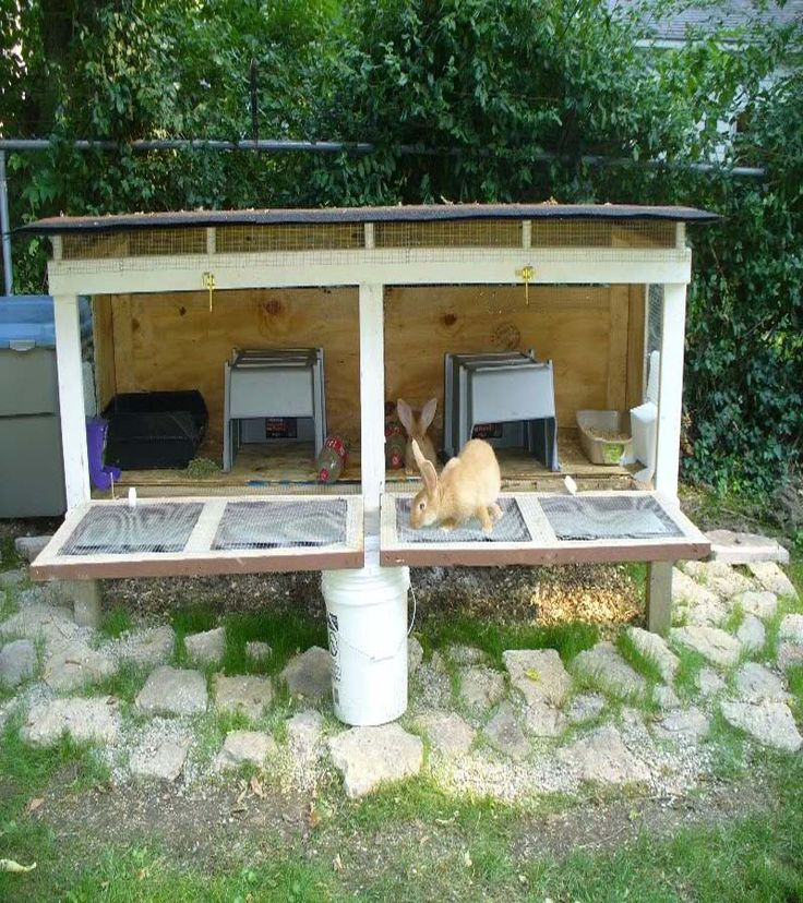 Rabbit hutch plan woodworking projects plans for Diy hutch plans