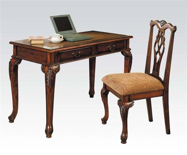 Aristocrate Dark Brown Cherry Wood 2pc Writing Desk