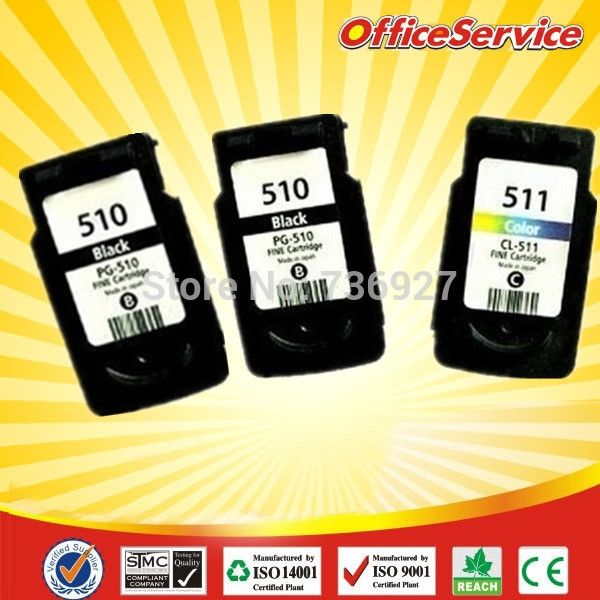 43.15$  Watch now - http://alih4w.shopchina.info/go.php?t=2037555871 - 3PK Re-manufacteud ink cartridge for Canon MP280 MP250 MP240  PG-510 2 black and CL-511 tri-colur ink cartridge  #magazine