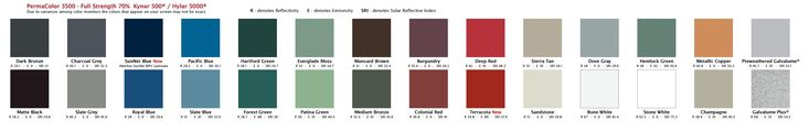 Metal Roofing Colors to choose from   Englert, inc.