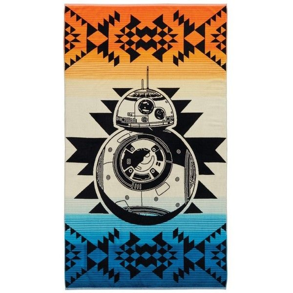 Pendleton Star Wars Bb-8 Beach Towel ($55) ❤ liked on Polyvore featuring home, bed & bath, bath, beach towels, star wars beach towel, plush beach towels, pendleton beach towel, oversized beach towels and pendleton