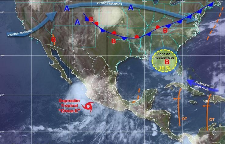 Diversos sistemas meteorológicos provocaran este domingo precipitaciones de diferente intensidad en la mayor parte de la República…