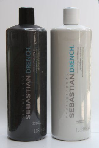 Sebastian Drench Moisturizing Shampoo and Conditioner Set 33.8 Ounces/1L * READ ADDIITONAL INFO @: http://www.passion-4fashion.com/beauty/sebastian-drench-moisturizing-shampoo-and-conditioner-set-33-8-ounces1l/