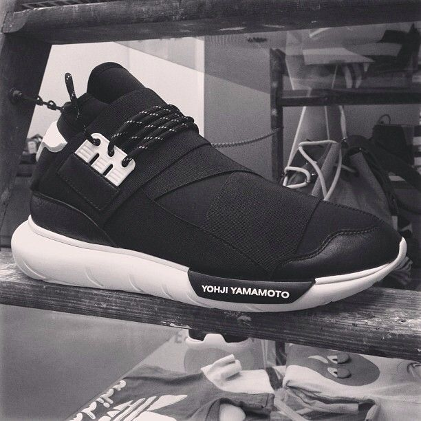 Fast track to the future of sportswear! What are your thoughts on the black version of the Y-3 QASA HIGH shoes?   Thanks to @Highsnobiety for the image, taken at @Carol Van De Maele Van De Maele DEL CASALE.  #adidas #y3 #sneaker #qasa