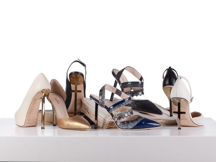 Tristan & Isolde, heels, crux, cross heel, salvation, essential, dragon, golden, made in Italy, Lamperti Milano