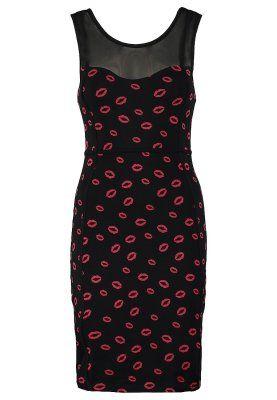 Sukienka z dżerseju - black/red