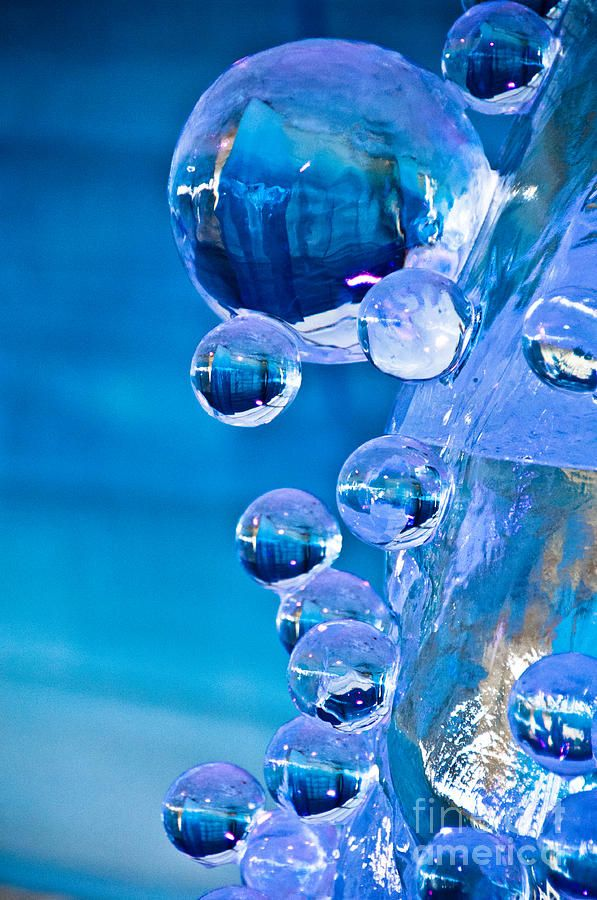 Blue Ice Bubbles Photograph  - Blue Ice Bubbles Fine Art Print