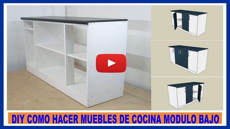 V deo para fabricar muebles de cocina en melamina for Proyecto muebles de cocina