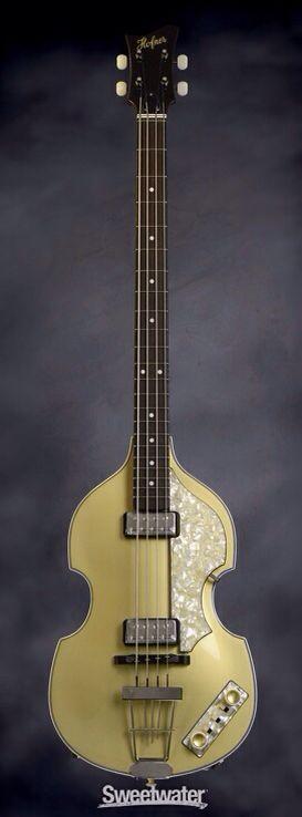 C Custom >> HOFNER '62 Custom Shop Violin Bass - Gold Top | Sweetwater | Guitars & Amplifiers | Pinterest ...