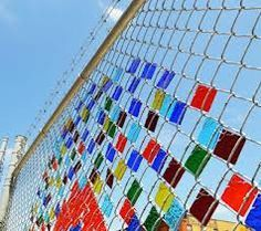 art on chain link fence - Google Search