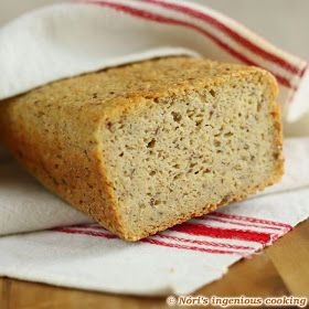 Nóri's ingenious cooking: My best gluten-free, whole grain bread, ever! package of fresh yeast (42g or 50g)* 1 tablespoon of sugar 2 tablespoons of olive oil 5 level tablespoons of psyllium husk 5 level tablespoons of flaxmeal/ground flaxseeds** 210g or 1 1/2 cups of millet flour 90g or 1/2 cup corn flour 90g 1/2 + 1/4 cups of buckwheat flour 170g or 1 1/2 cups of brown rice flour 1 teaspoon salt