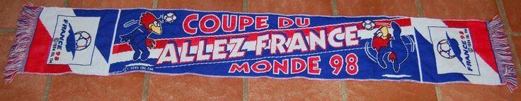 Echarpe officielle COUPE DU MONDE 1998 Equipe de FRANCE footix foot 98  | eBay